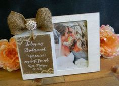 This listing is for one sturdy MDF picture frame with an easel back & it comes with glass. The front of the frame is painted & distressed for a: Wedding Venues Texas, Wedding Vows, Wedding Decor, Wedding Stuff, Dream Wedding, Wedding Ideas, Personalized Picture Frames, Personalized Gifts, Bridesmaid Pictures