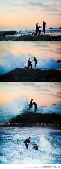 super snaps: Proposal fail. Luckily we are the type of couple that would love this even more- just don't lose that ring!