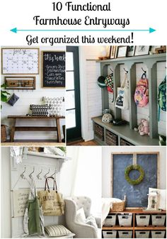 Functional entryways to inspire organization.