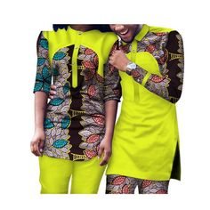 Dashiki African Clothing Matching Style for Couple Men and Women Top-Pants Sets African Wear Styles For Men, African Attire For Men, African Clothing For Men, African Party Dresses, African Dresses Men, African Women, Nigerian Men Fashion, African Print Fashion, Ghanaian Fashion