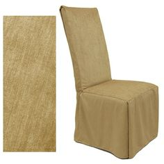 Chenille Almond dining chair cover is one of our best selling products. Rich looking, durable - yet smooth to the touch. Perfect slipcover choice for any decorating style, be it traditional or contemporary.