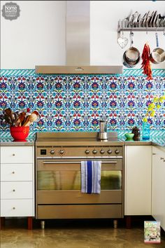 Poh Ling Yeow's colourful Turkish-tiled kitchen looks like a fabulous place to cook up a feast