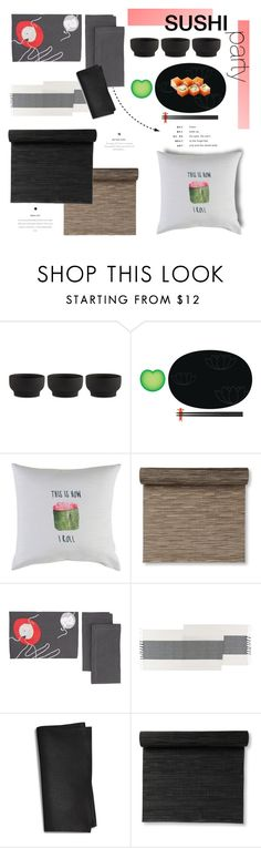 """Sushi Party"" by pattykake ❤ liked on Polyvore featuring interior, interiors, interior design, home, home decor, interior decorating, Stelton, Alessi, Surya and Chilewich"