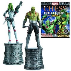 Marvel Gamora and Drax Special Chess Pieces with Magazine