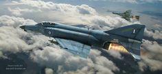 Evening Patrol, F-4E Phantom II of Hellenic Air Force, by Antonis Karidis.