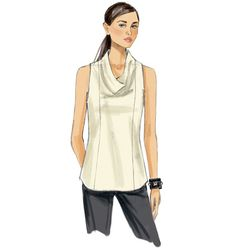 Buy the top sewing pattern from Vogue® Patterns. This pullover top has a draped front neckline and can be made with sleeves or sleeveless. Vogue Patterns, Make Your Own Clothes, Dress Making Patterns, Sewing Clothes, Clothing Patterns, Fashion Outfits, Fashion Fashion, Shirts, Inspiration