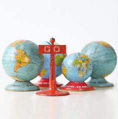 Vintage GO May 1925 Metal Toy Sign by bellalulu on Etsy Vintage Globe, Retro Vintage, Metal Toys, Retro Color, Three Dimensional, Old And New, Snow Globes, At Least, Signs