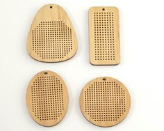 Bamboo Pendant Blanks (Red Gate Stitchery)