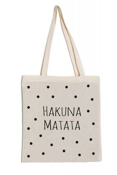 Jutebeutel Baumwolltasche lange Henkel Spruch bedruck flexfolie Hakuna Matata