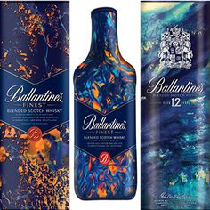 The Chivas Brothers-owned brand will collaborate with a different artist or designer once a year as part of the series. Ballantines Whisky, Good Spirits, Liquor Bottles, First Dates, Scotch Whisky, Creative Things, Bottle Design, Package Design, Art Direction