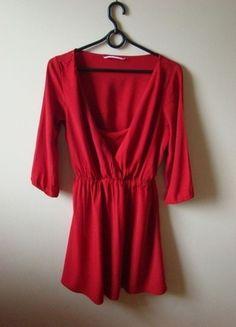 Kup mój przedmiot na #vintedpl http://www.vinted.pl/damska-odziez/krotkie-sukienki/10446176-czerwona-sukienka-bershka