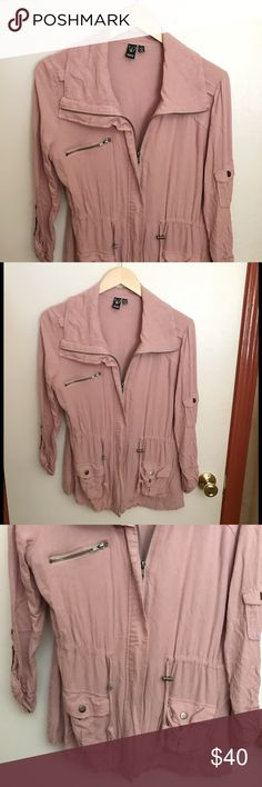 Windsor lightweight jacket 🌷 NWOT \\ trendy and cute jack. Lightweight and so soft! Silver hardware, blush pink / mauve color. Tts Windsor Jackets & Coats