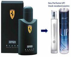 Perfume Importado Masculino Ferrari Black – Up Essência 11  Uma fragrância enigmática e marcante, que mistura vigor, sensualidade e mistério. Suas notas combinam bergamota, maça, ameixa, canela, jasmim, rosas e cedro.
