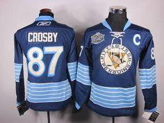 Penguins  87 Sidney Crosby Women 2011 Winter Classic Vintage Stitched Dark  Blue NHL Jersey f1c3ef290