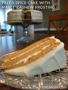Paleo spice cake with cashew frosting