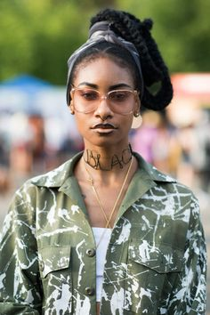 Rogue Culture --- ELLE.com photographer Tyler Joe captures the best street style from Afropunk.