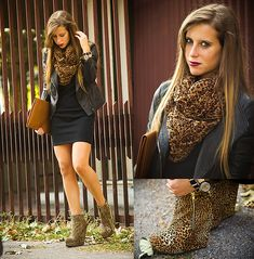 Don't walk on my way Leopard Ankle Boots, Brown Ankle Boots, Leather Skirt, Leather Jacket, Old Models, Winter Looks, Walk On, French Fashion, Fashion Stylist