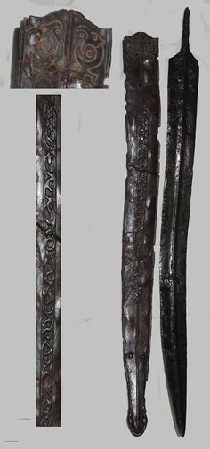 Teacă de sabie celtică descoperită la Pișcolt, județul Satu Mare