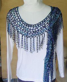 trellis yarn scarf