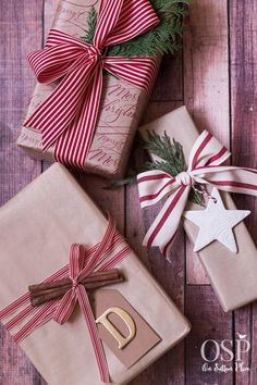 christmas gift wrapping ideas red ribbon