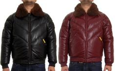 double goose black leather quilted v bomber jacket - Table