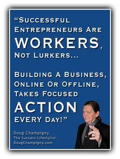 New blog post: Internet Entrepreneurs – Workers Or Lurkers?