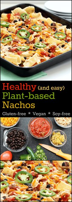 Healthy Plant-Based Nachos are the ultimate! They will satisfy your snack food craving without leaving you looking for a pillow and a blanket.