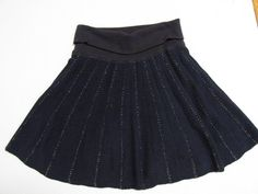 #Free #People #Black #Knit #skirt #Silver #Metallic #Threads #Medium #FreePeople #ALine #Fashion #Apparel #Shopping #eBay