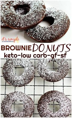 Keto Chocolate Donuts Keto chocolate brownie donuts are amazing The rich fudgy chocolate makes them a decadent low carb treat that you wont want to turn down You can eith. Veggie Keto, Vegetarian Keto, Keto Donuts, Baked Donuts, Doughnuts, Donut Shape, Donut Recipes, Dessert Recipes, Breakfast Recipes