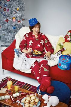 How do I plan to spend most of my Christmas? A lot like Miranda; plenty to eat, in my pyjamas and watching TV!