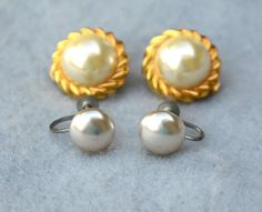 Lot of 2 Pair Faux Pearl Earrings Vintage Christmas in July Sale - 25% off any item $20 or more through July 15th #Vintage #Jewelry #fashion #VintageJewelry #GiftForHer #VintageGifts #EtsyGifts #VintageFinds #EtsyVintage #CostumeJewelry #VintageFashion #2PairEarrings #LotOf2PairEarrings #FauxPearlEarrings #JapanEarrings #MidCenturyEarrings #80sEarrings