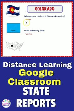 Google Classroom 50 States and Capitals research reports have 3 pages of writing graphic organizers for each state allows you to differentiate writing for students. Your students simply do the research and enter the text in the provided boxes. Distance Learning is easy! #DistanceLearningTpT #DistanceLearningTpT #GoogleClassroomWriting #StatesResearchProject #GoogleClassroomElementary #TeacherFeatures #2ndgrade #3rdGrade #TpT #DistanceLearning #StateReports #StatesandCapitols