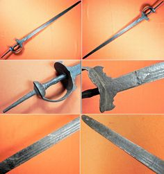 Indian firangi (an Indian word meaning 'foreigner') , a sword type which used blades manufactured in Western Europe and imported by the Portuguese, or made locally in imitation of European blades. 18-19 century. Blade 37 inches, total length 48 inches.