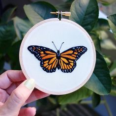 "6,098 Likes, 32 Comments -  ⚪ (@handmade.embroidery) on Instagram: ""@inkyemily  #monarchbutterfly #butterfly #insect #nature #embroidery #art #fiberart #broderie…"""