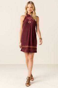 Athena Embroidered Shift Dress $48.00