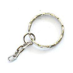 Kulcskarika, kulcstartó lánccal 21 mm - Csinálj Ékszert! - Ékszerkészítés, bizsualkatrészek, üveglencsés ékszer