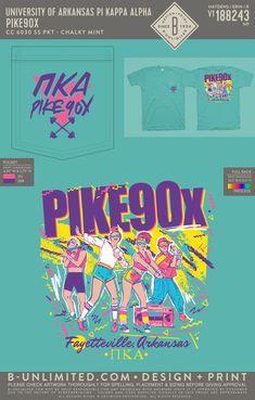 Pi Kappa Alpha 90's Mixer Shirt   Fraternity Event   Greek Event #pikappaalpha #pike Pi Kappa Alpha, Bid Day Themes, University Of Arkansas, Greek Life, Mixers, Fraternity, Artwork, Shirt, Work Of Art