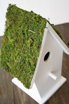 Moss Birdhouses... spring decor