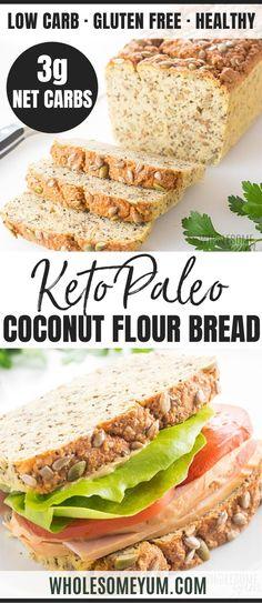 Easy Keto Bread Recipe, Best Keto Bread, Lowest Carb Bread Recipe, Paleo Bread, Low Carb Bread, Bread Recipes, Chili Recipes, Fish Recipes, Soup Recipes