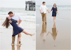 Beach & Baseball themed Engagement Portrait Session - Newport Beach Photographer, Beautiful Couple, Love, In Love, Beach, Ocean, Sand, Pier, Sea, Sunset, Batting Cages, Baseball Field, American Flag, Baseball Fence, Happy Couple, Happily Engaged, Cute, Fiancé, Dancing Dip, Romance, Romantic, Walking on Beach, Holding Hands, Smiling, Kiss, Passionate, Barefoot  GilmoreStudios.com