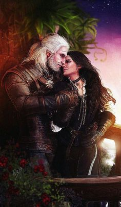 Geralt and Yennefer The example of polar opposites that attract; The yin and yang