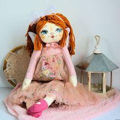 Lala ręcznie malowana - Weronika - 50 cm  - anioł Harajuku, Dolls, Pink, Baby Dolls, Puppet, Doll, Pink Hair, Baby, Roses