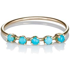 Loren Stewart Women's Turquoise Cabochon Ring ($199) ❤ liked on Polyvore featuring jewelry, rings, no color, 14k jewelry, band jewelry, 14k ring, turquoise jewelry and blue turquoise ring