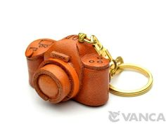 Camera Leather Keychain