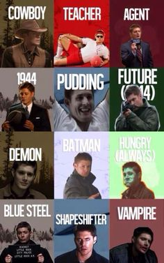 Many faces of Dean. And each one is my soulmate ;)