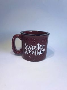 Sweater weather campfire mug//coffee cup//sweater weather by Napcreations on Etsy