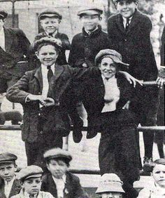 10-year old Walt Disney (center right) at a gathering of Kansas City newsboys in 1912.