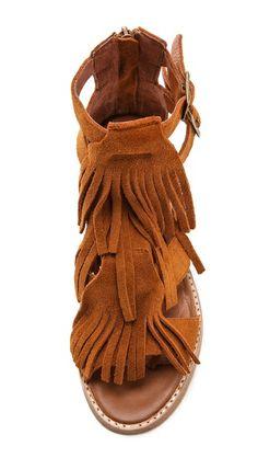 Jeffrey Campbell Dodge Fringe Sandals