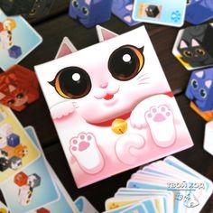 "Настольная игра ""Китти По"" ... Board game ""Kitty Paw"" ... #kittypaw #кошачьялапка #кошка #котики #boardgames #cats #cat"