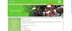 Sección de noticias en el portal  CABI sobre la mejora de rendimiento de los cultivos, la protección del medio ambiente y la mejora del acceso a los conocimientos científicos agrícolas. Happiest Places To Live, Site Sign, Sustainable City, Urban Agriculture, Research And Development, All News, News Media, Media Center, Press Release